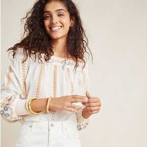 Anthropologie Nora Off-The-Shoulder Blouse